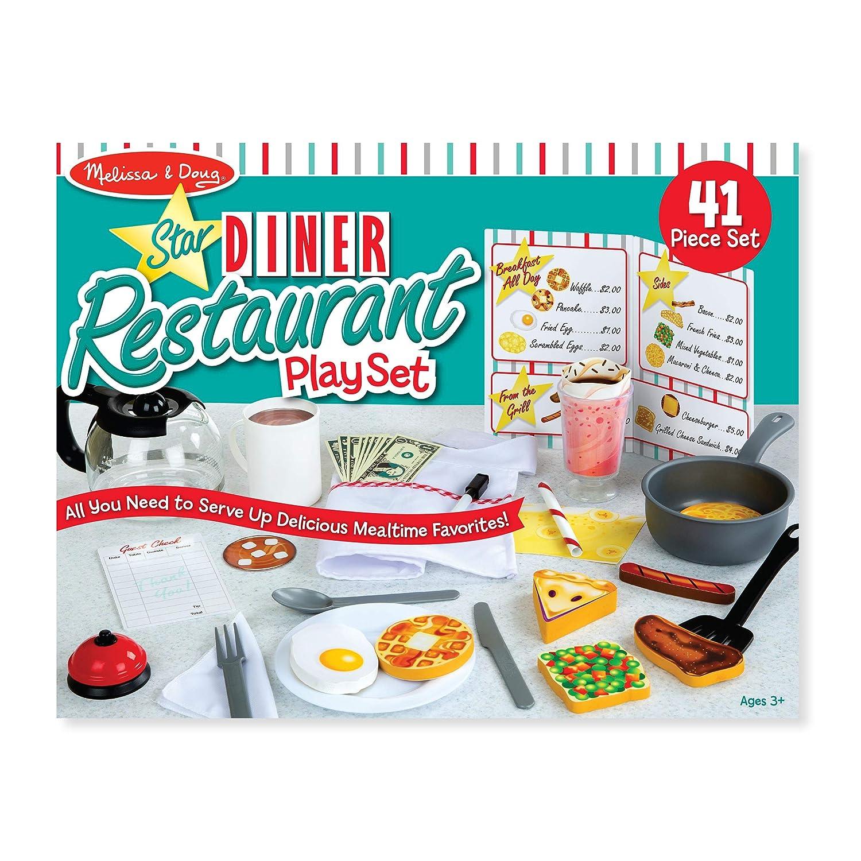 Melissa and Doug Star Diner Kids Cafe//Kitchen Wooden Play Set