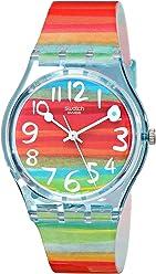 Swatch Womens GS124 Quartz Rainbow Dial Plastic Watch