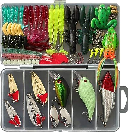 1 set Fishing Lures Soft Plastic Bait Lead Head Worm Hook Bass Jigging Fishing
