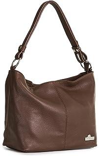 61a2a7d32025 ... Adjustable Long Strap Handbag -. LIATALIA Womens Genuine Italian Leather  Medium Size Shoulder Hobo Bag - Adjustable…