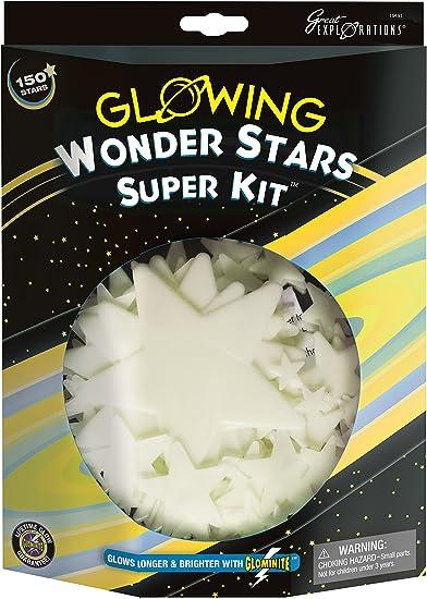 Plastic Glow Stars for Ceilings set of 50 Glow In The Dark Wonder Stars Pack
