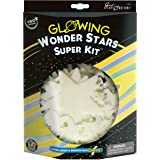 Great Explorations Wonder Stars Super Kit Glow In The Dark Ceiling Stars 150Piece In 4 Sizes Reusable Adhesive Putty & Conste