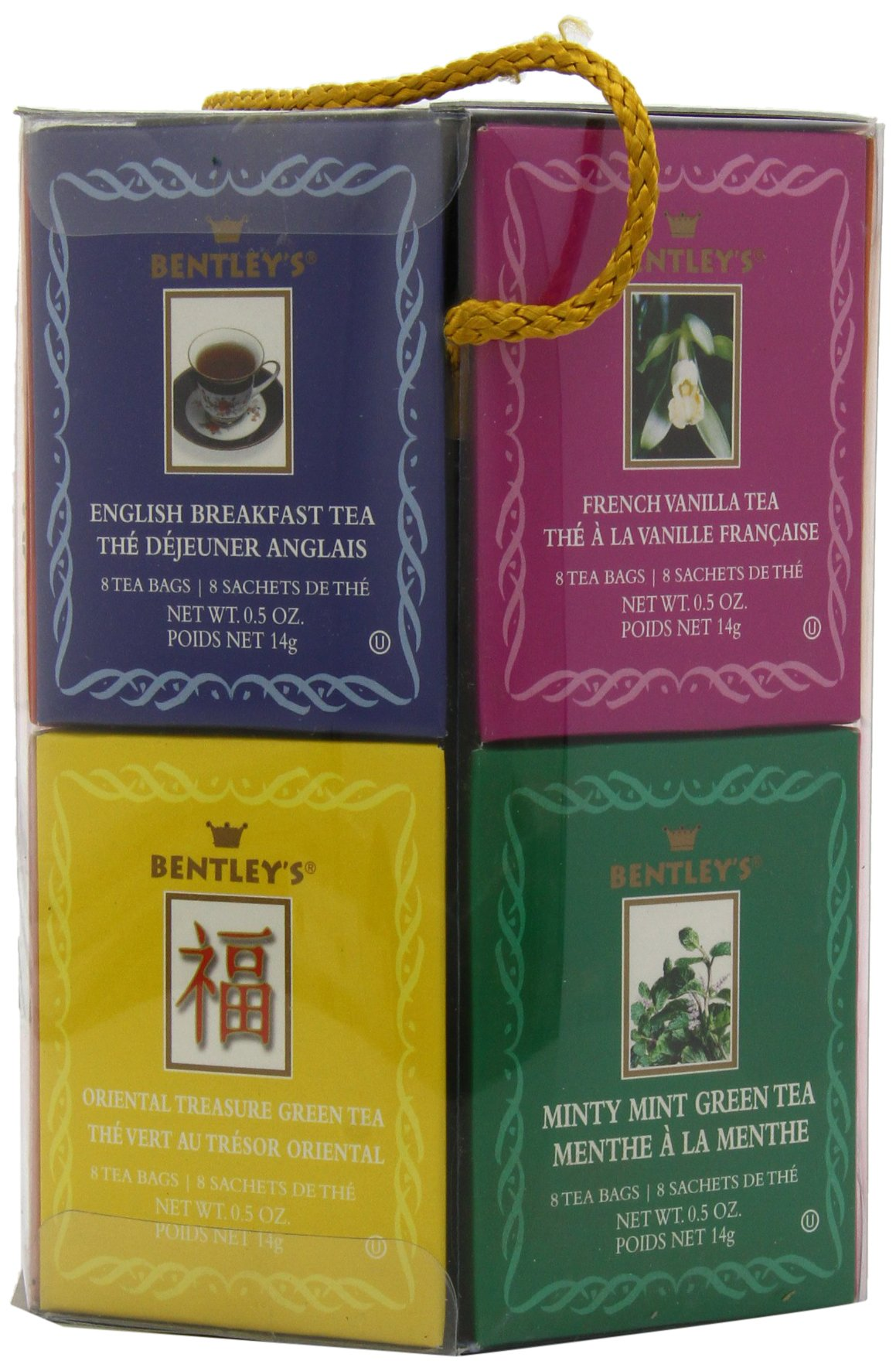 Bentley's Royal Classic Collection Assorted Flavor Gift Pack, 96 Tea Bags (Pack of 2), Includes 8 Bags Each of a Variety of Black and Green Tea Flavors by Bentley's (Image #5)