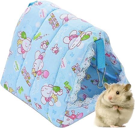 Ferret Rat Mice Mouse Guinea Pig Degu Gerbil Hamster Bird Chincilla Hammock Sleeper Hanging Bed Cage Accessories POPETPOP Small Animal Hammock Random Color