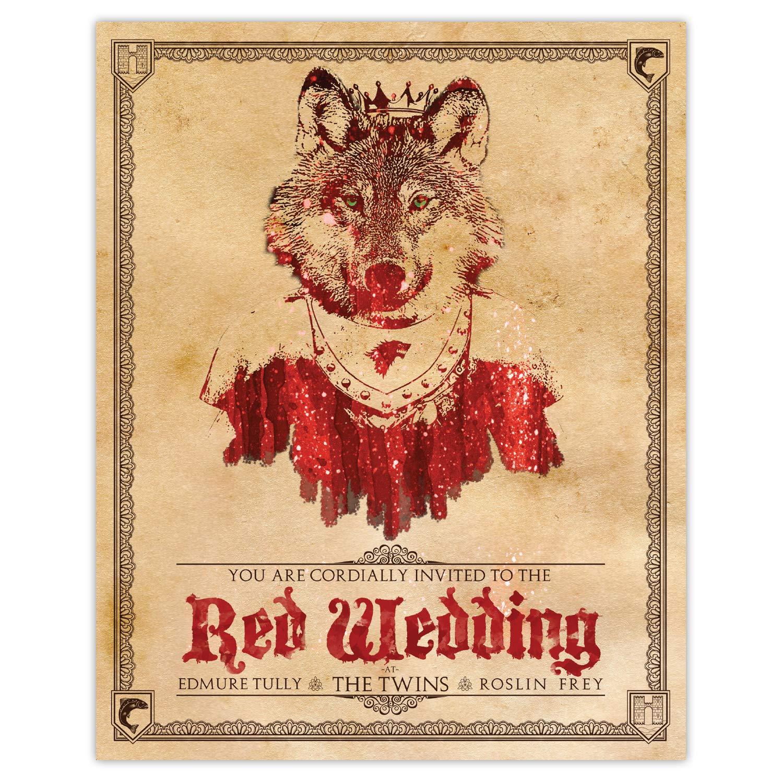 Amazon Com Game Of Thrones Red Wedding Invitation 8x10 Print Handmade