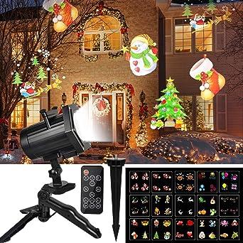 Bilder Weihnachten Animiert.Led Licht Projektor Außen Unifun Animiert Weihnachtsbeleuchtung