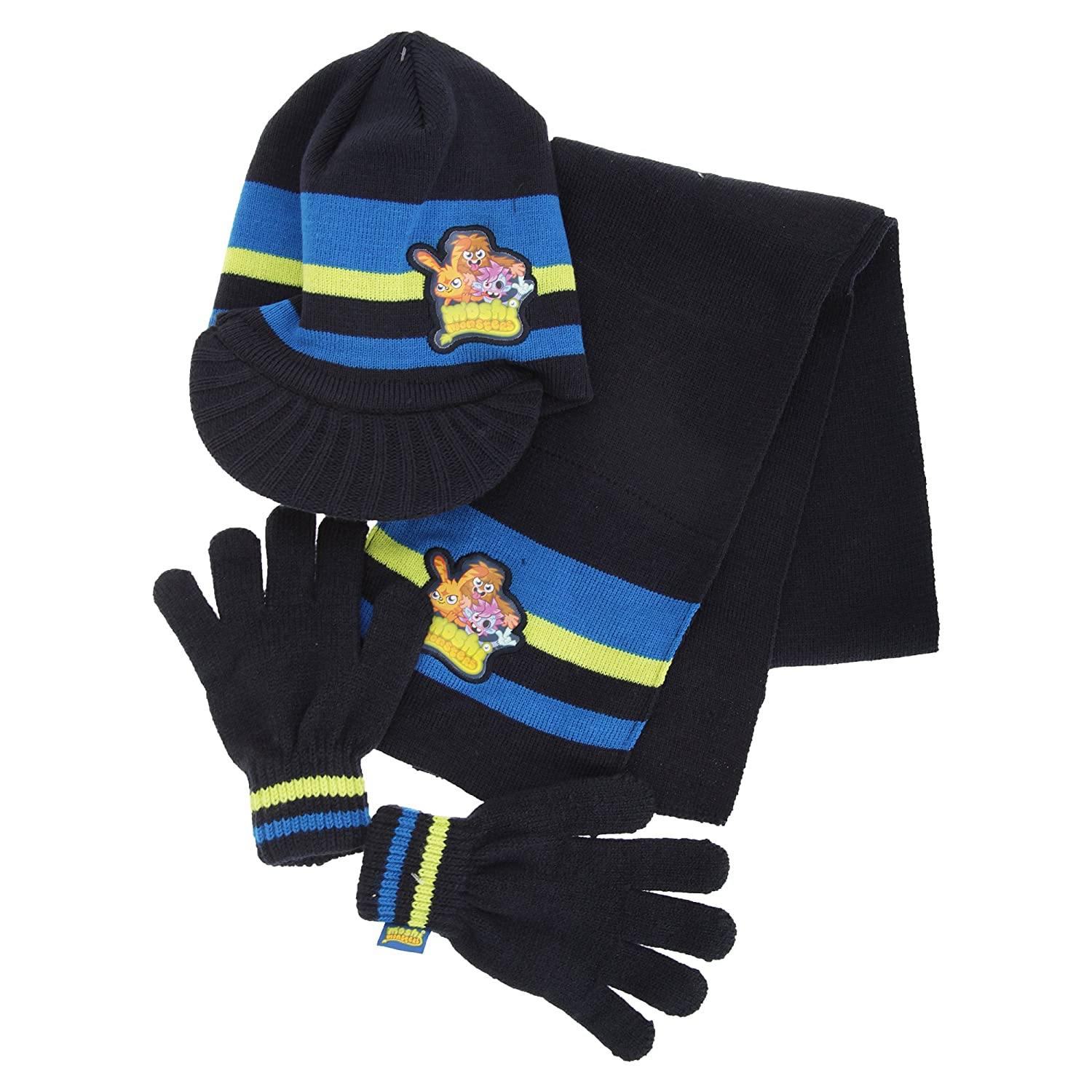 Childrens Boys Moshi Monsters Winter Hat, Gloves And Scarf Set UTGL269_1