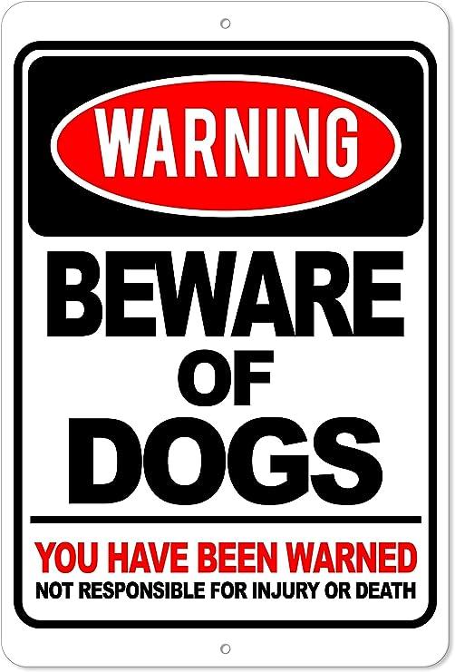 Amazon.com: Tenga cuidado con los perros – has sido ...