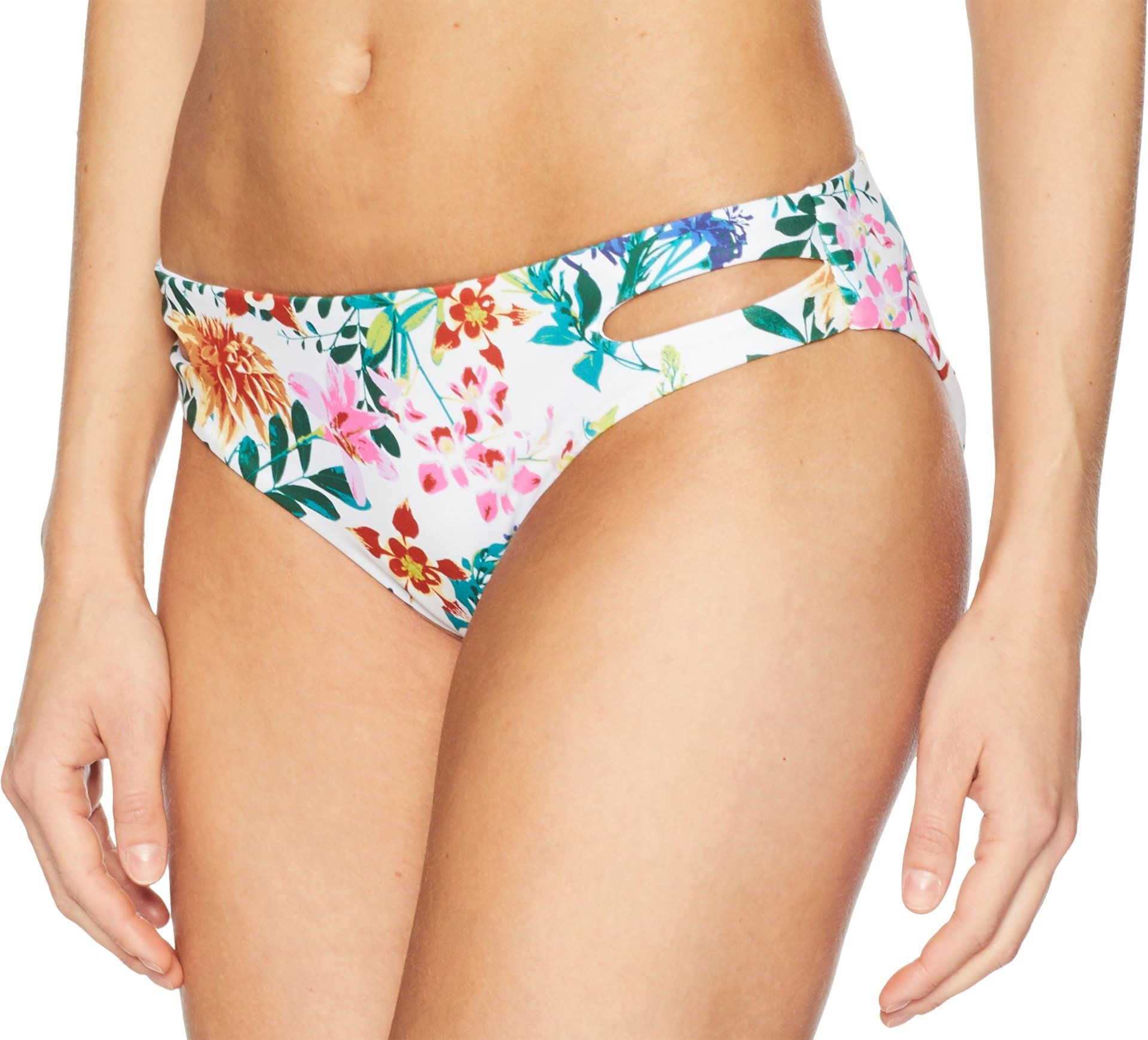 Roxy Junior's Solid Softly Love Reversible 70s Bikini Bottom, Bright White Floral Soiree, S by Roxy (Image #2)