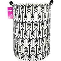 Large Canvas Fabric Lightweight Storage Basket/Toy Organizer/Dirty Clothes Collapsible Waterproof for College Dorms…