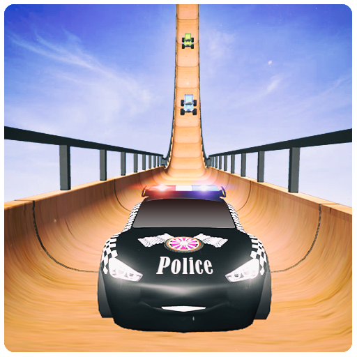 US Police McQueen Car Mega Ramp Racing Stunts : Cop Driving 2