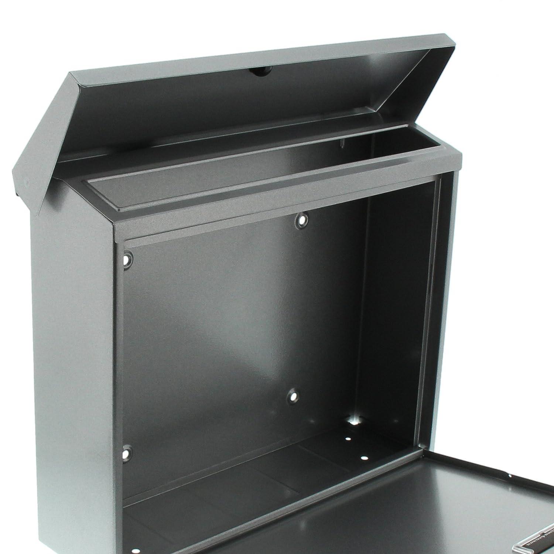 A4 Einwurf-Format Eisen Verzinkter Stahl Briefkasten mit /Öffnungsstopp BURG-W/ÄCHTER Journal 5867 E