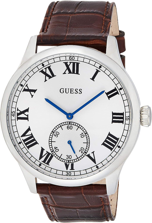 GUESS Reloj Analógico para Hombre de Cuarzo con Correa en Cuero W1075G4