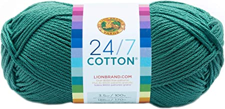 Lion Brand Yarn Company algodón de Lana, 100% algodón, Color Verde Jade: Amazon.es: Hogar