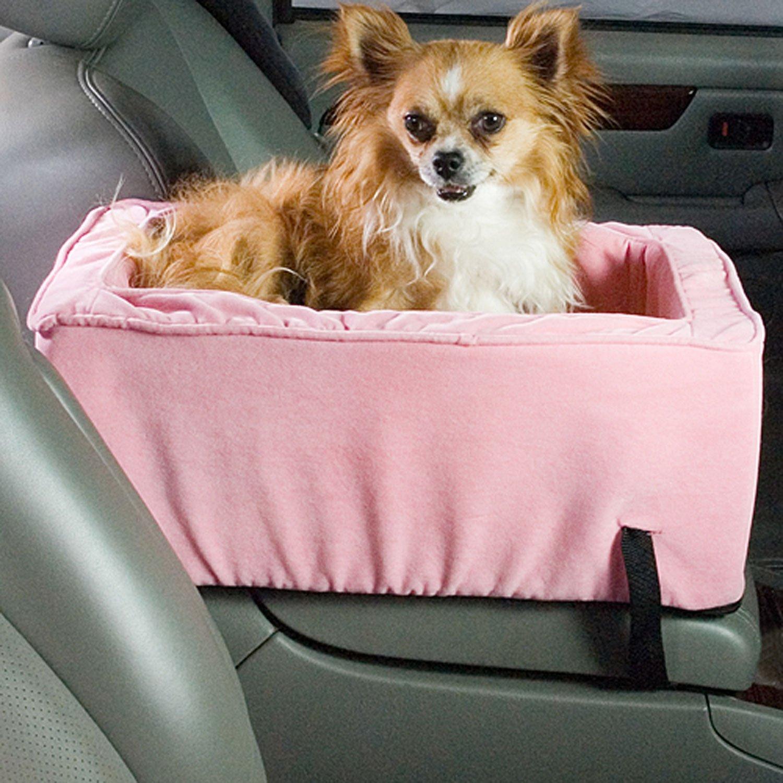 Snoozer Grande Lusso Console Pet Car Seat, rosa rosa Microsuede