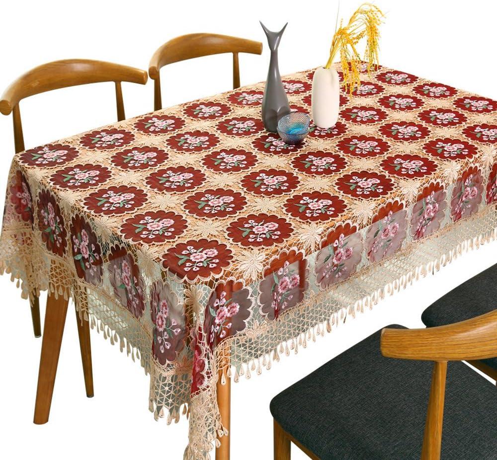 adasmile hecho a mano Crochet girasol Pierced encaje mantel funda para mesa para fiestas boda: Amazon.es: Hogar