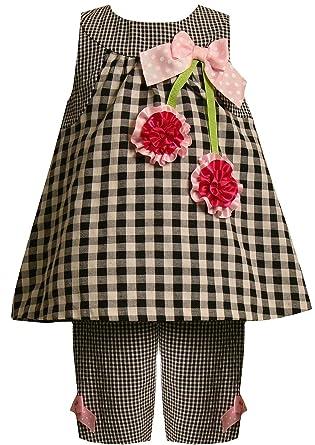 1c1bbb82d Amazon.com: Bonnie Jean Baby Girls 3M-24M Gingham Check Bonaz Cherry  Seersucker Capri Set: Clothing