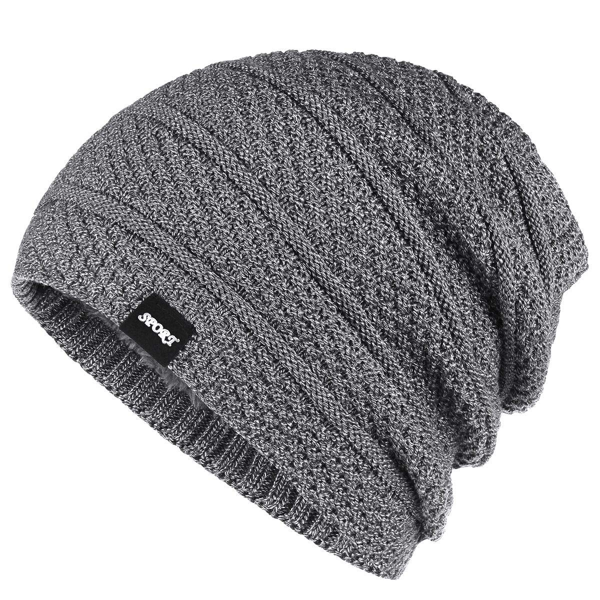 c2d93f57 Bodvera Winter Knit Wool Warm Hat Thick Soft Stretch Slouchy Beanie Skully  Cap Navy product image