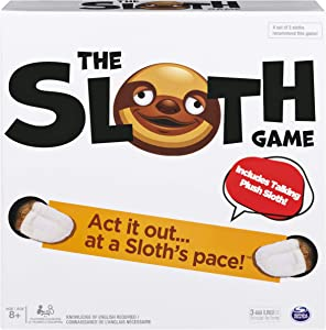 Spin Master Games The Sloth Game, Team Charades and Task Game with Electronic Plush Sloth, for Ages 8 and Up