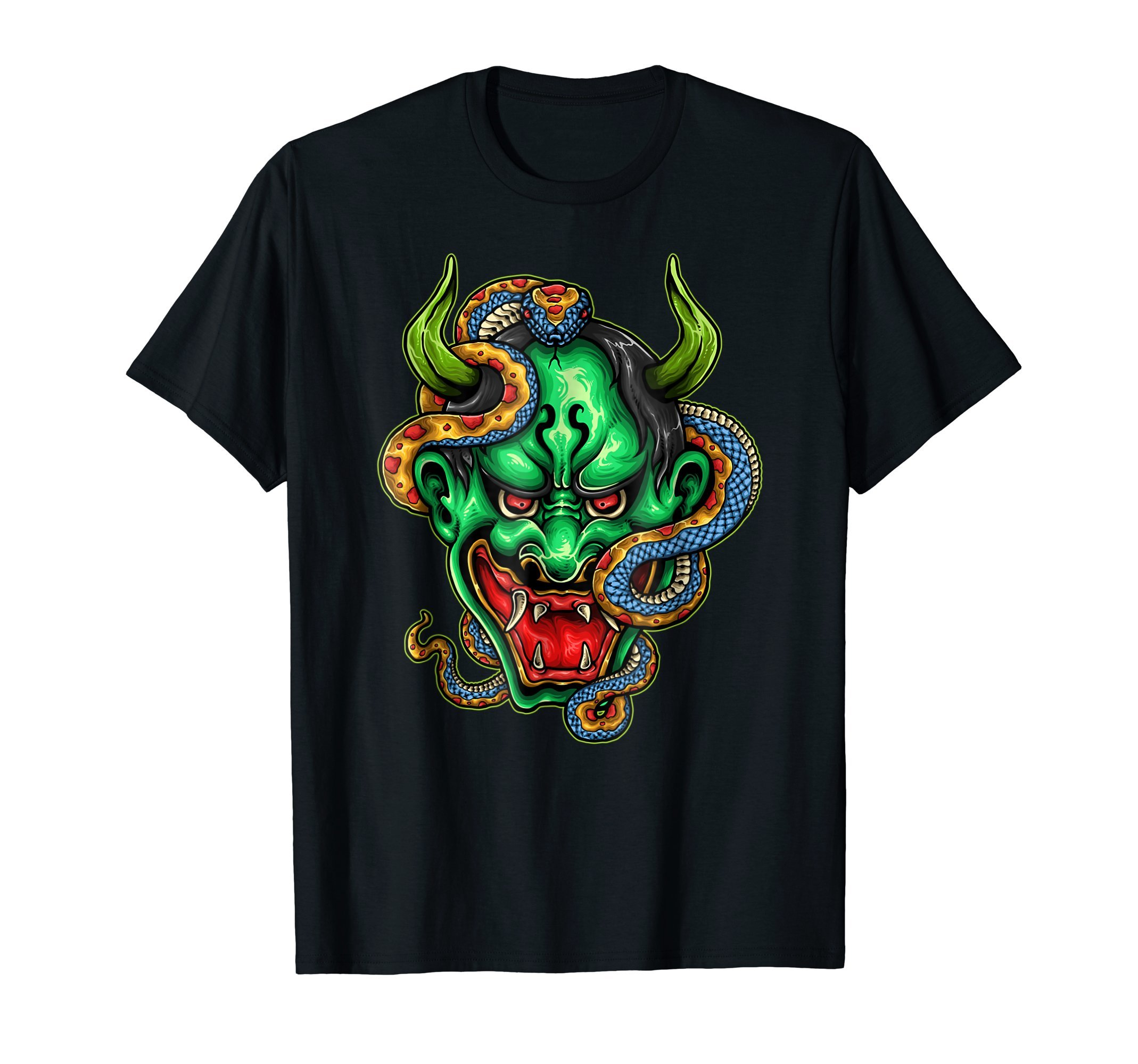 Japanese-Demon-Mask-Halloween-costume-T-Shirt-Tee-Gift