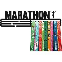 United Medals Marathon Medalla Percha | Acero Recubierto de Polvo Negro (43cm / 48 Medallas) Soporte para Medallas…
