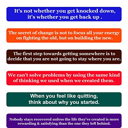 Inspirational Recovery Quotes Classy Amazon Recovery Quotes Fridge Magnets Inspirational Words