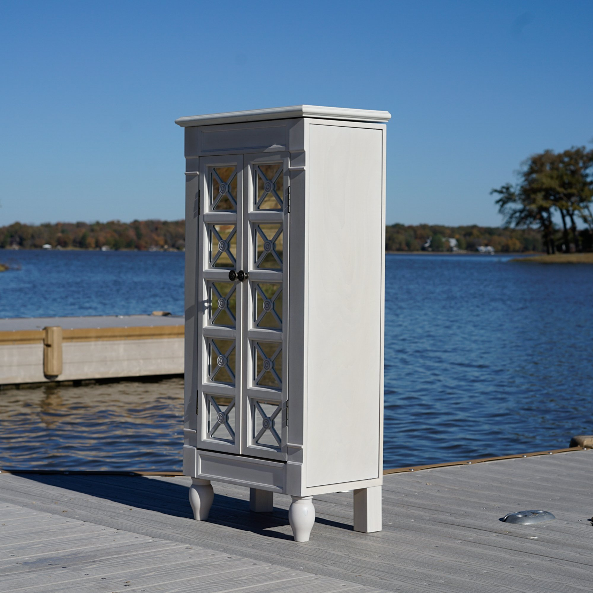 Hives and Honey ''Celene'' Jewelry Armoire, Century White by Hives and Honey (Image #7)
