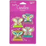 Kole Imports PC238 Butterfly Party Candles with Glitter Accents