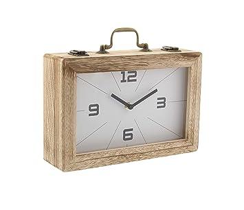 1a778bdc05c1 GwG Outlet Decorativo Madera Reloj y Caja de Almacenamiento  Amazon.es   Hogar