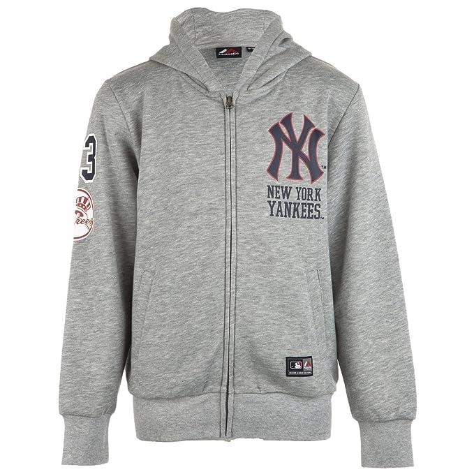 Majestic: Sudadera de los New York Yankees, Capucha, Cremallera, de Chico (
