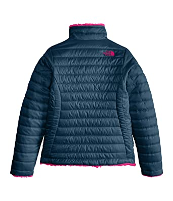 00783f36ef3b Amazon.com  The North Face Girl s Reversible Mossbud Swirl Jacket - Blue  Wing Teal - XXS  Clothing