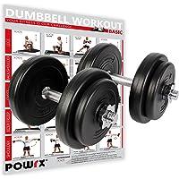 POWRX - Mancuernas 20 kg Set (2 x