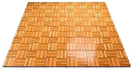 Amazoncom SnapLock Oak X Portable Dance And Event Floor Kit - Snap lock dance floor for sale