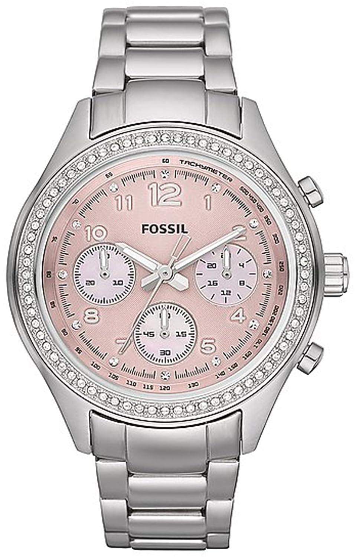 Fossil Womens Ch2798 Flight Stainless Steel Watch Es3380 Original Boyfriend Chronograph Rose Tone Watches