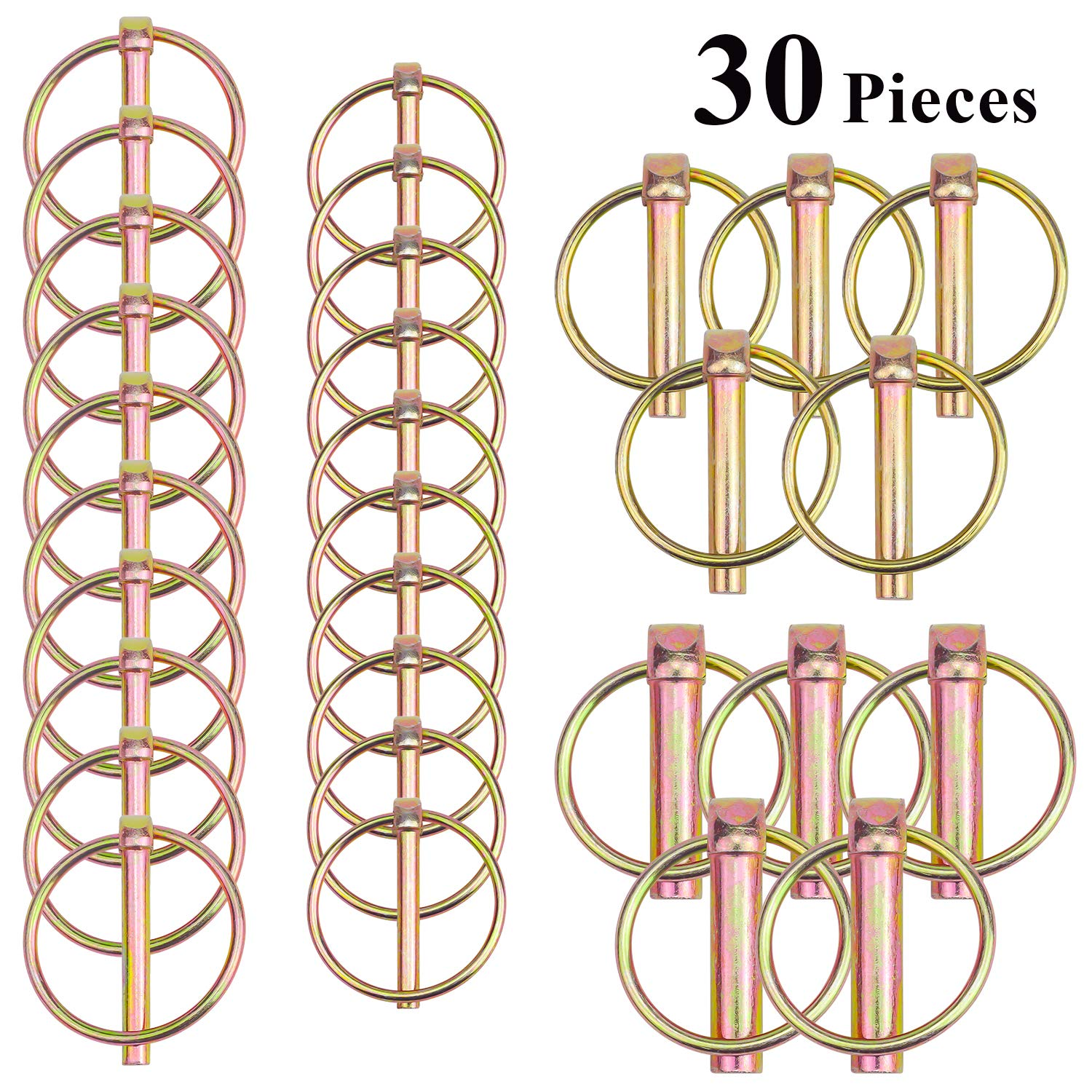 Favordrory 30 Pieces Heavy Duty Linch Pin Assortment Kit for Boat Kayak Canoe Trailer Tractor Trolley Horsebox by Favordrory