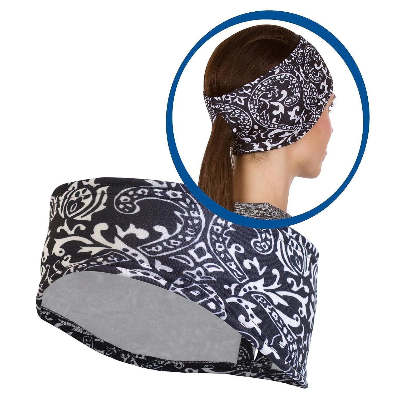 Banda para la cabeza de Trailheads con estampado para mujer, compatible con coletas, 10 impresiones, fabricado en Estados Unidos, Una talla le queda a la mayoría, Azul (Deep Dive Blue)