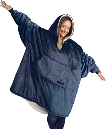 THE COMFY Original | Oversized Microfiber & Sherpa Wearable Blanket