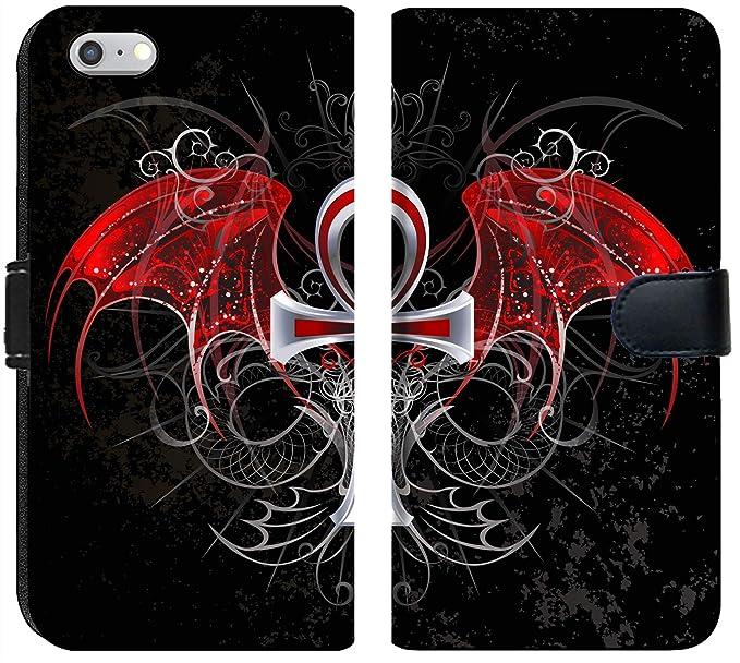 d8417c04732a12 Amazon.com  Luxlady iPhone 6 Plus   6s Plus Flip Fabric Wallet Case ...