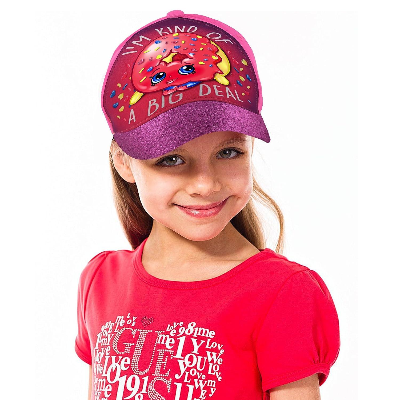cheaper d4ffb da044 ... purchase age shopkins little girls dlish donut character 3d pop  baseball cap pink purple 291e5 19d4b