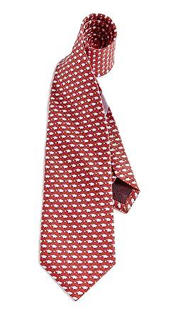 80c99aefeb8a Salvatore Ferragamo Men's Pig Tie, Red, One Size at Amazon Men's ...