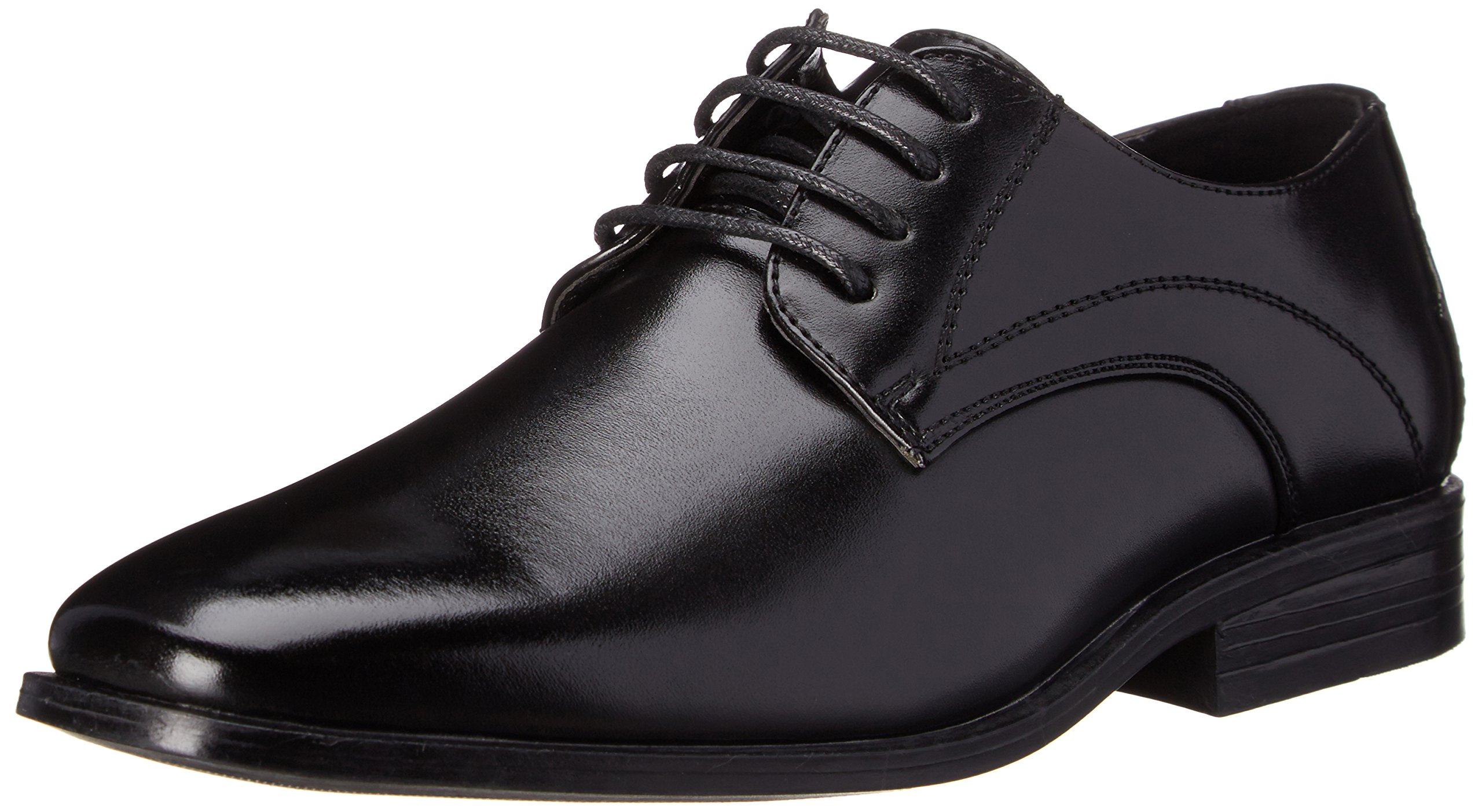 Stacy Adams Carmichael Plain Toe Lace-up Uniform Oxford Dress Shoe (Little Kid/Big Kid),Black,4.5 M US Big Kid