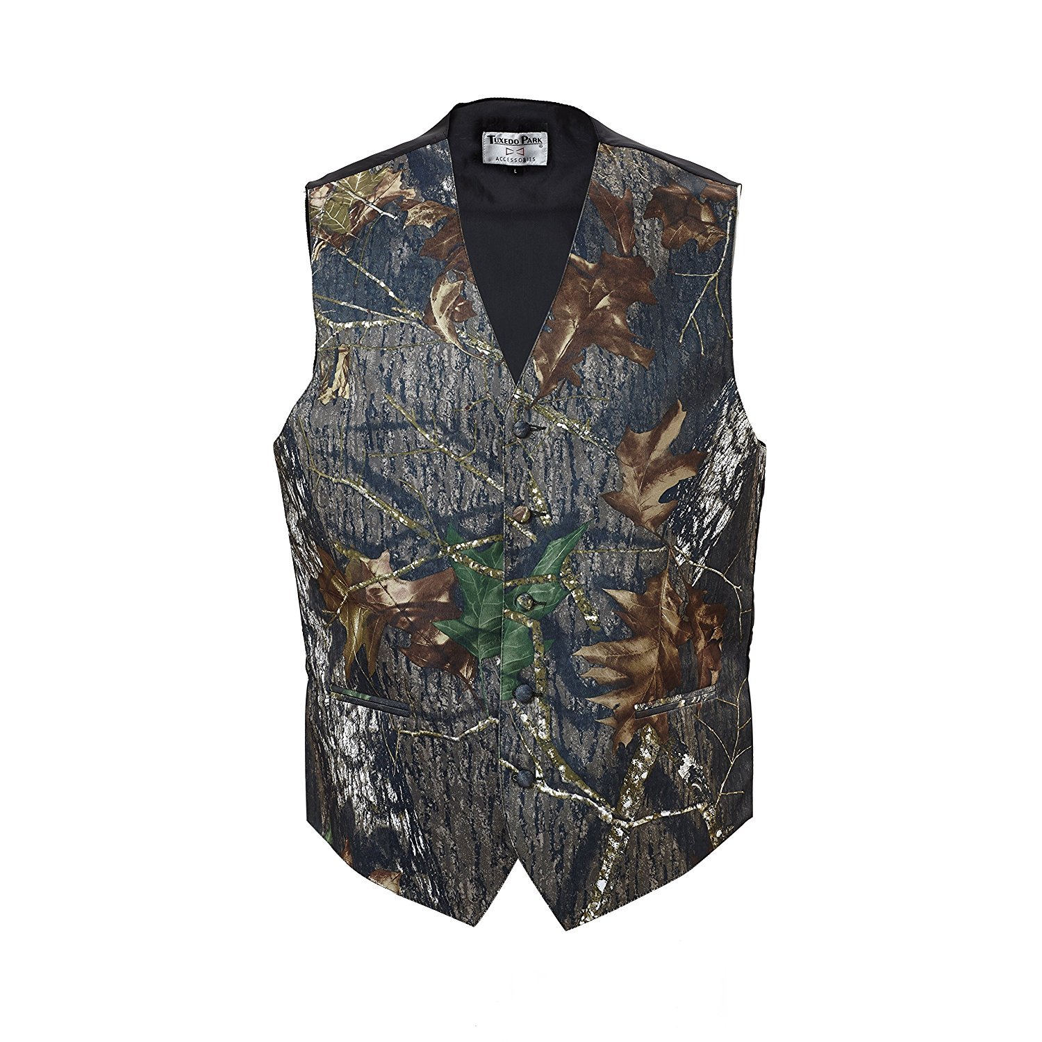 Camouflage Vest & Tie 3X-Large Long with Neck Tie