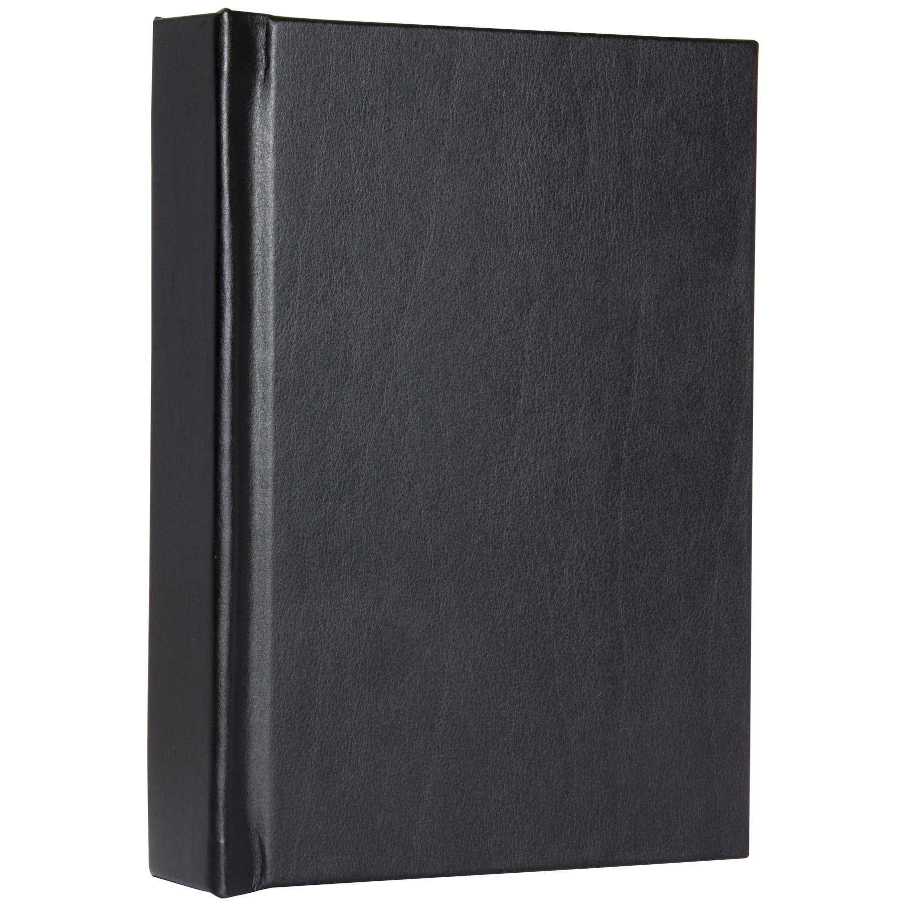 4'' x 6'' Repositionable Black Vertical Self-Stick Albums - Case of 12