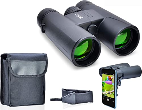 Best Optics Binoculars for Adults and Kids – 10×42 Lightweight, Compact and Professional Binocular with BAK4 Prism Lenses – Perfect for Bird Watching, Hunting and Concerts Black