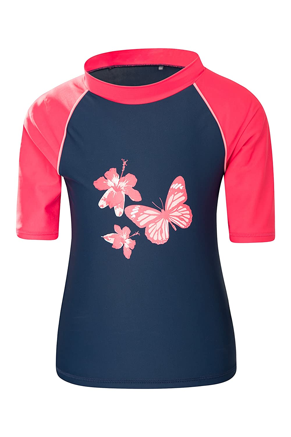 Mountain Warehouse Kids Rash Vest - UPF50+ Sun Protection Rash Guard Pink 13 years 024862040010