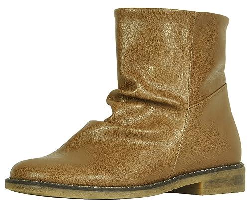 7b070c4c25379 Refresh Footwear Women's Slouchy Slip-On Ankle Bootie