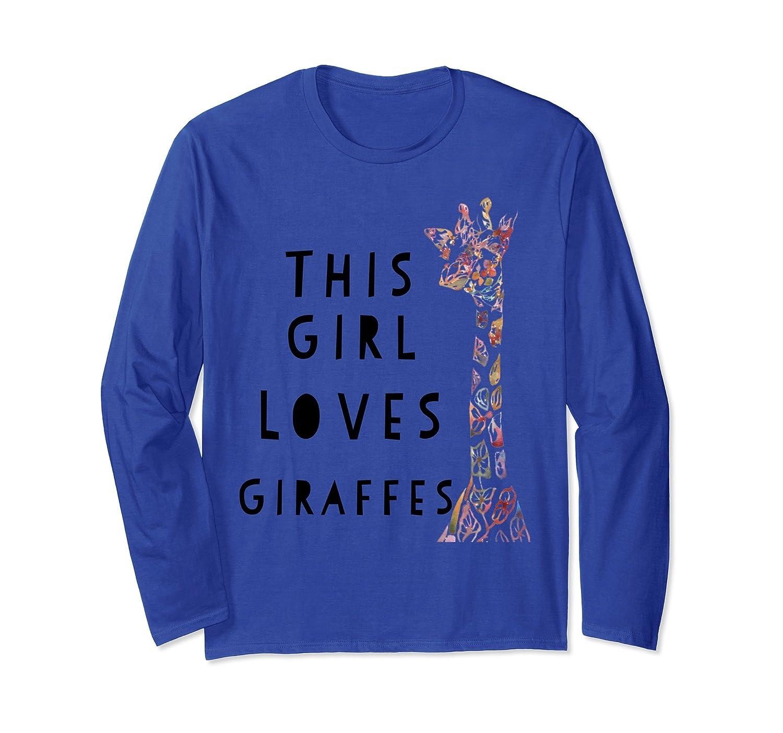 Girls Giraffe Shirt - This Girl Loves Giraffes T Shirt-mt