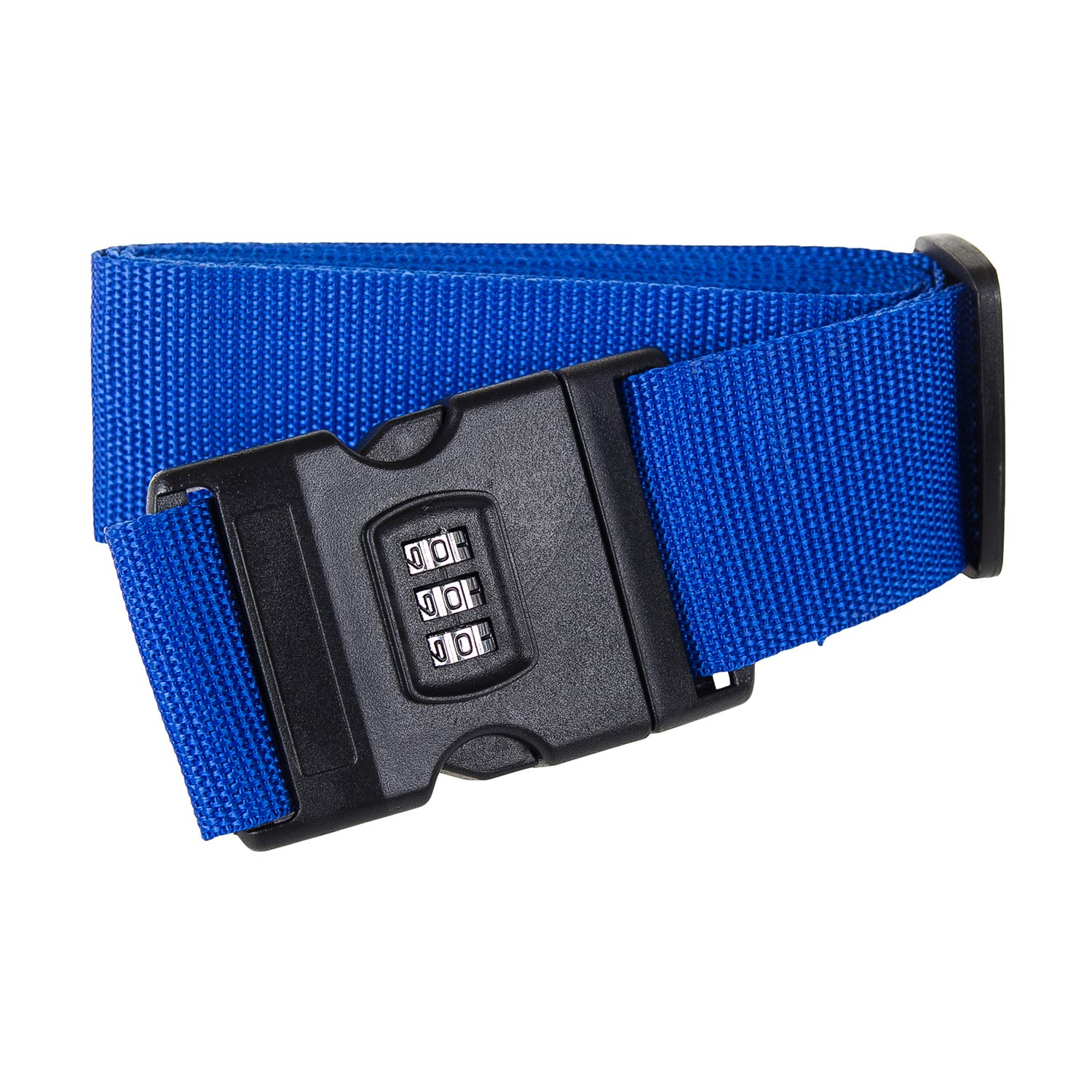 Adjustable Luggage Strap with Number Lock, Password Suitcase Belts Travel Belt Straps Baggage Packing Belt for Bags Luggage Security (Blue)