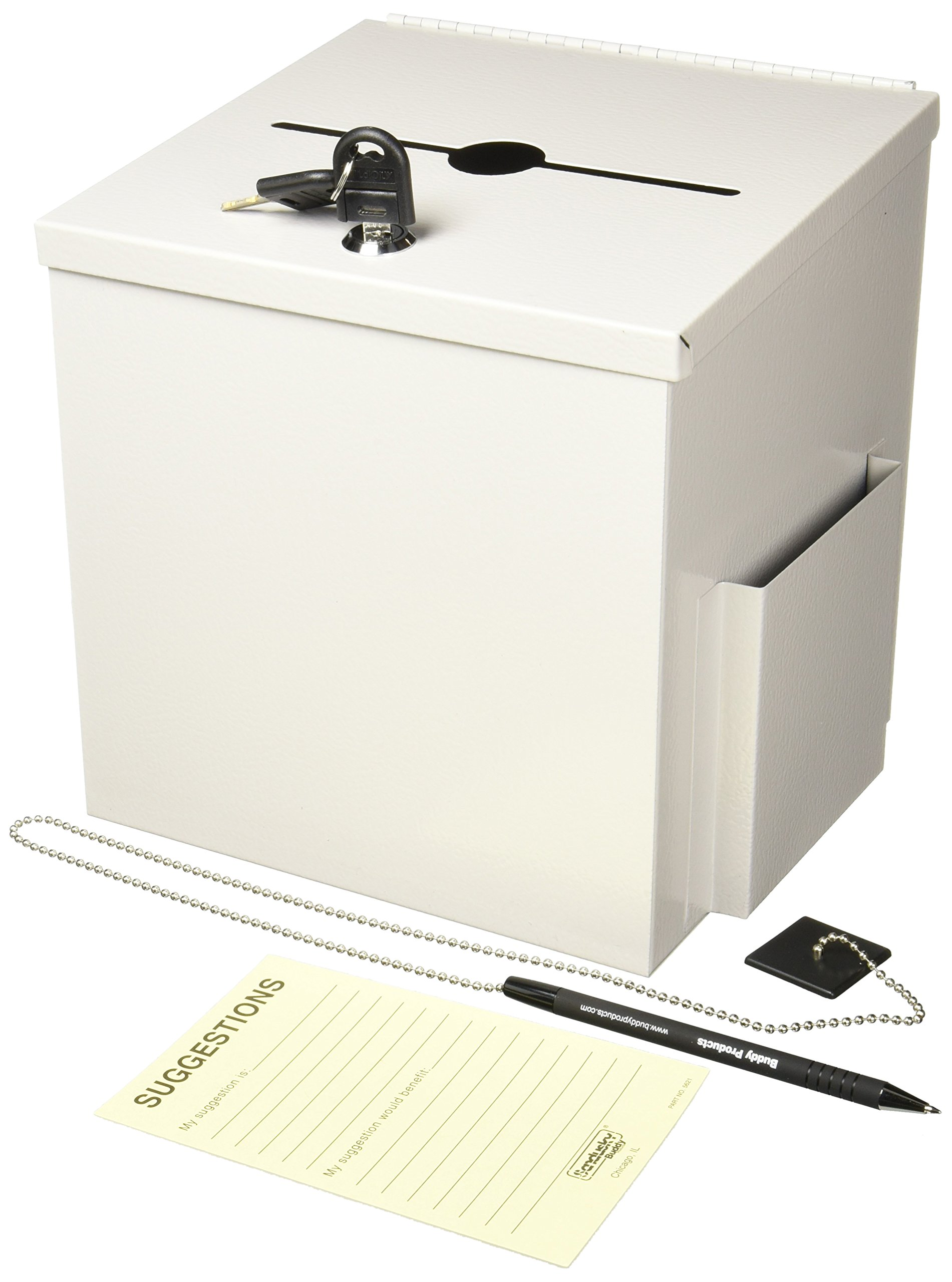 BDY562032 - Buddy Recycled Steel Suggestion Box with Locking Top