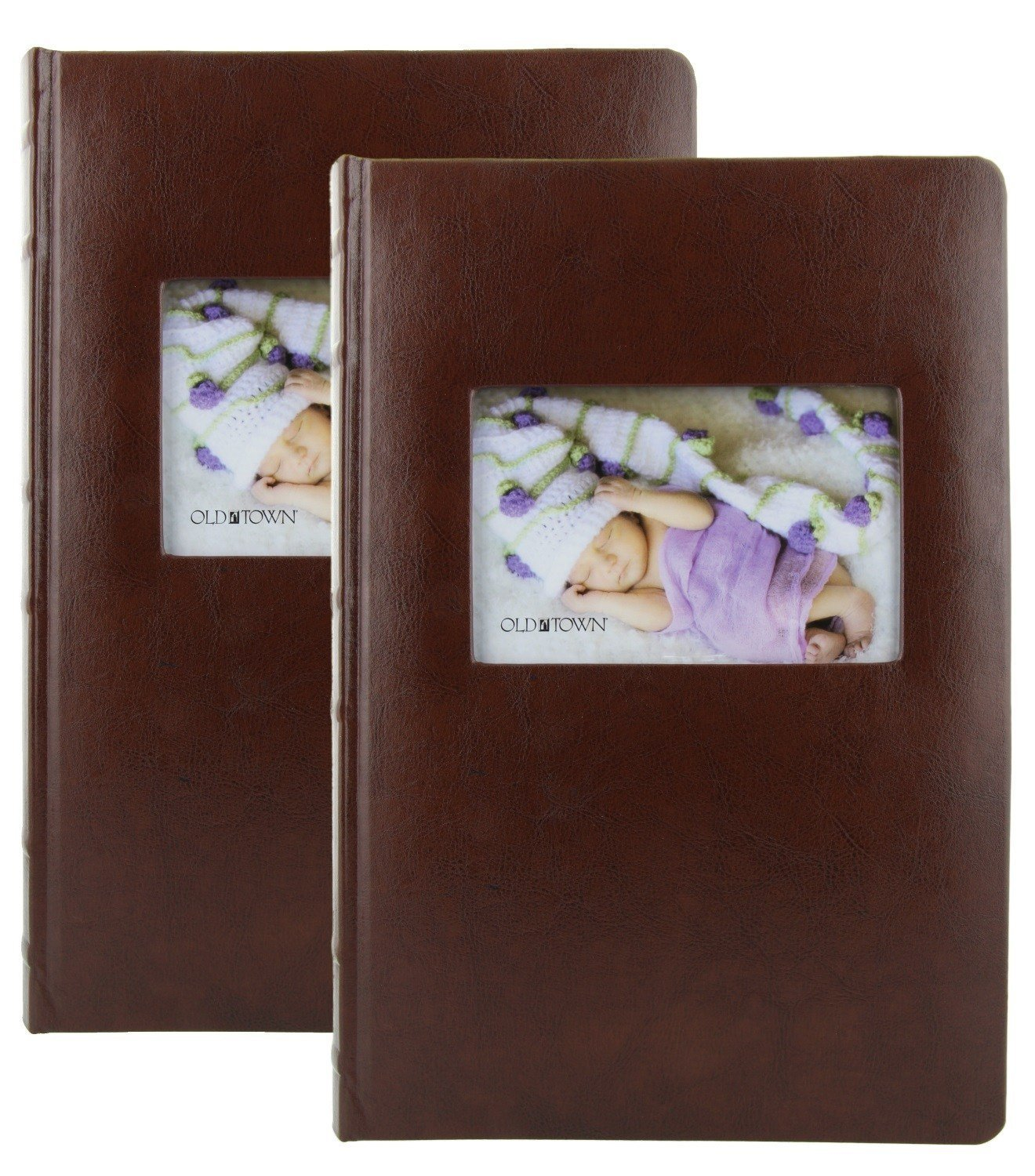 2 Pack Old Town Leather Photo Albums - Brown by Old Town